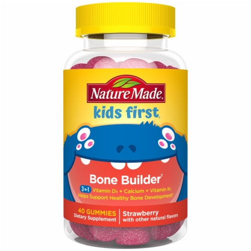 Nature Made Kids First Bone Builder Gummies 40 Count Perspective: front