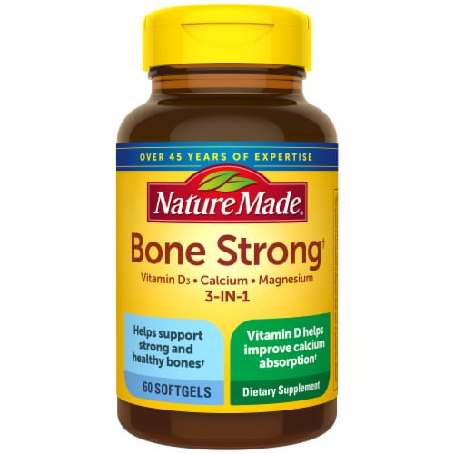 Nature Made Bone Strong Dietary Supplement Softgels Perspective: front