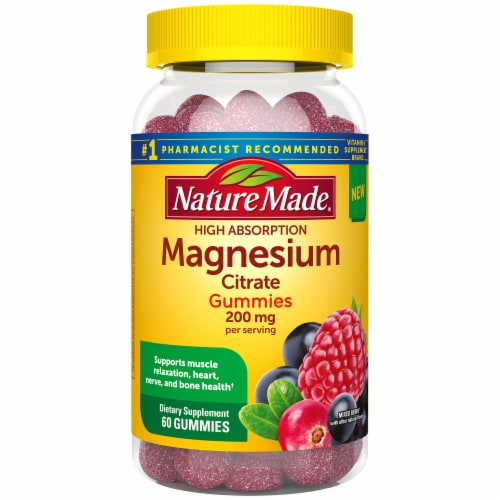Nature Made Magnesium Gummies 200mg Perspective: front