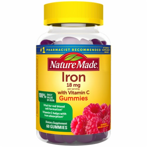 Nature Made Iron with Vitamin C 18 mg Perspective: front