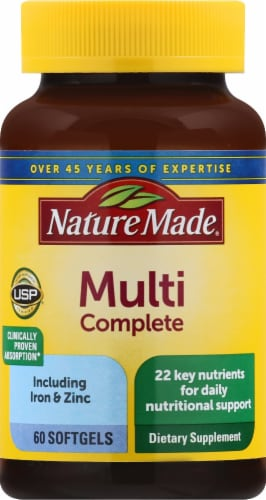 Nature Made Multi Complete Softgels Perspective: front