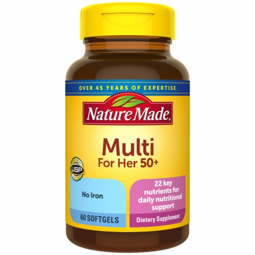 Nature Made Multi For Her 50+ Softgels Perspective: front