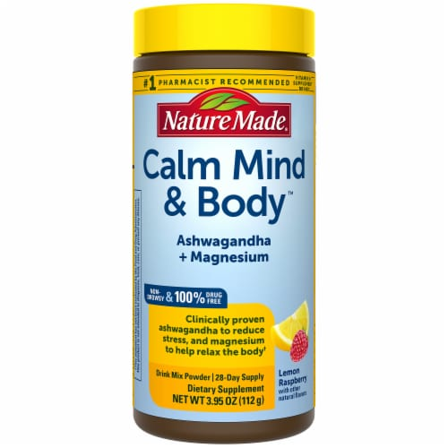 Nature Calm Mind and Body Drink Mix Powder Perspective: front