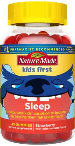 Nature Made Kids First Strawberry Sleep Gummies Perspective: front