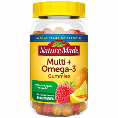 Nature Made Strawberry Lemon & Orange Multi + Omega-3 Gummies Perspective: front