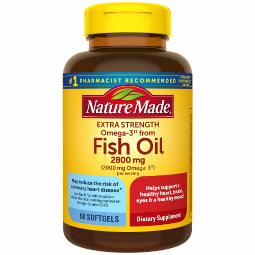 Nature Made Extra Strength Omega-3 Fish Oil Softgels 2800mg Perspective: front