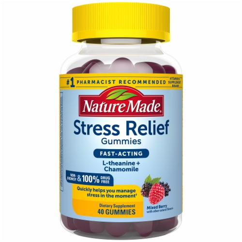 Nature Made Mixed Berry Stress Relief Gummies Perspective: front
