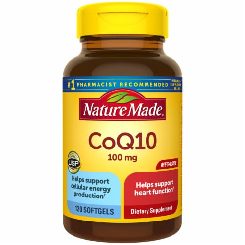 Nature Made CoQ10 Soft Gels 100mg Perspective: front