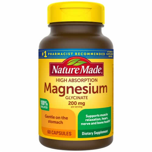 Nature Made Magnesium Glycinate Capsules 200mg Perspective: front
