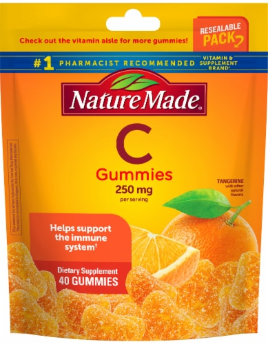 Nature Made Vitamin C 250mg Gummies Perspective: front