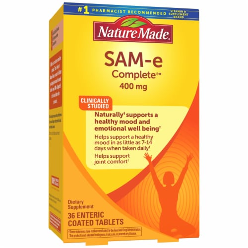 Nature Made SAM-e Complete Enteric Coated Tablets 400mg Perspective: front