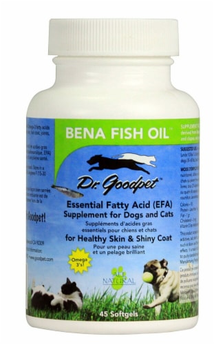 Dr. Goodpet Bena Fish Oil Softgels Perspective: front