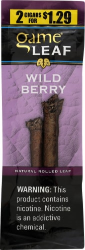 Game Leaf Wild Berry Natural Rolled Leaf Cigars Perspective: front