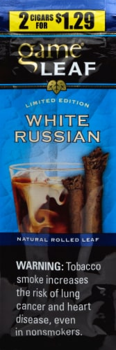 Game Leaf White Russian Natural Rolled Leaf Cigars Perspective: front