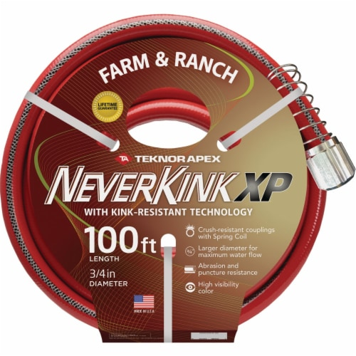 NeverKink XP 3/4 In. x 100 Ft. Farm & Ranch Hose 9846-100 Perspective: front