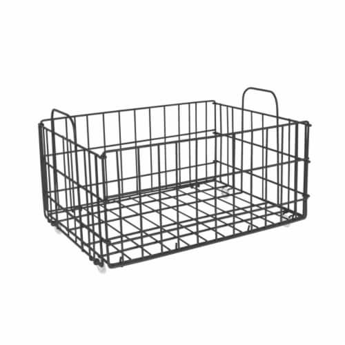 Atlantic 23308040 Cart System Wire Basket, Charcoal Perspective: front