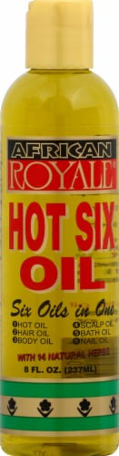 African Royal Hot Six Oil Perspective: front
