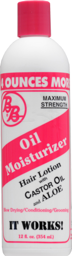 BB Maximum Strength Oil Moisturizer Hair Lotion with Castor Oil & Aloe Perspective: front