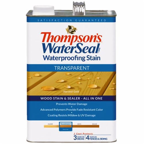 Thompsons WaterSeal Transparent Waterproofing Stain HARVEST GOLD gal Perspective: front