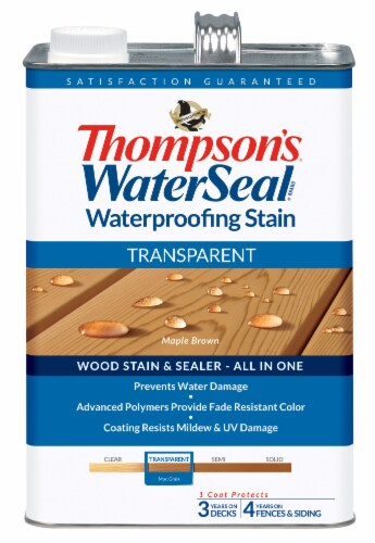 Thompson's® WaterSeal® Transparent Maple Brown Waterproofing Stain & Sealer Perspective: front