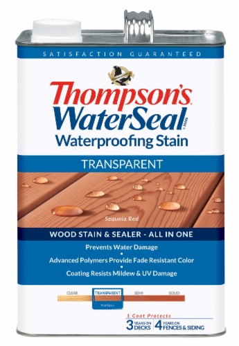Thompson's® WaterSeal® Waterproofing Stain Transparent Wood Stain & Sealer - Sequoia Red Perspective: front