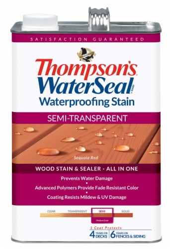 Thompson's® WaterSeal® Semi-Transparent Sequoia Red Waterproofing Stain & Sealer Perspective: front