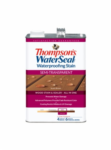 Thompson's® WaterSeal® Semi-Transparent Acorn Brown Waterproofing Stain & Sealer Perspective: front