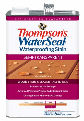 Thompson's® WaterSeal® Semi-Transparent Woodland Cedar Waterproofing Stain & Sealer Perspective: front