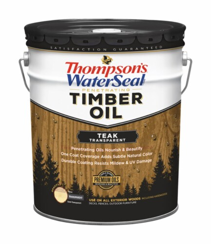 Thompson's WaterSeal  Transparent  Teak  Penetrating Timber Oil  5 gal. - Case Of: 1; Perspective: front