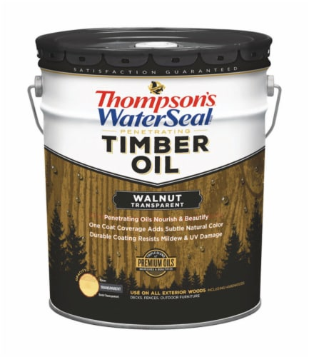 Thompson's WaterSeal  Transparent  Walnut  Penetrating Timber Oil  5 gal. - Case Of: 1; Perspective: front