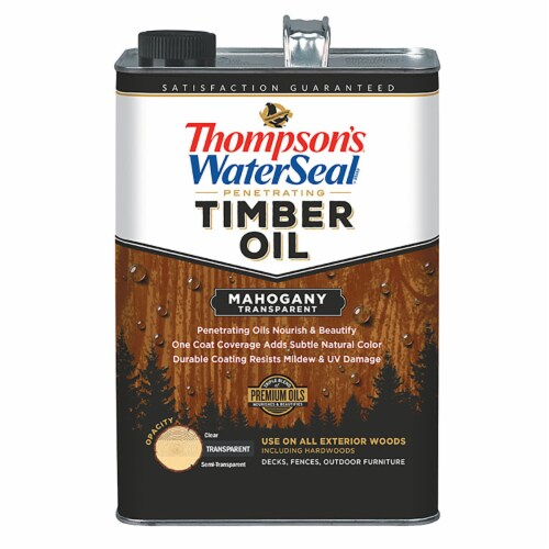 Thompsons WaterSeal Timber Oil Transparent Mahogany gal Perspective: front