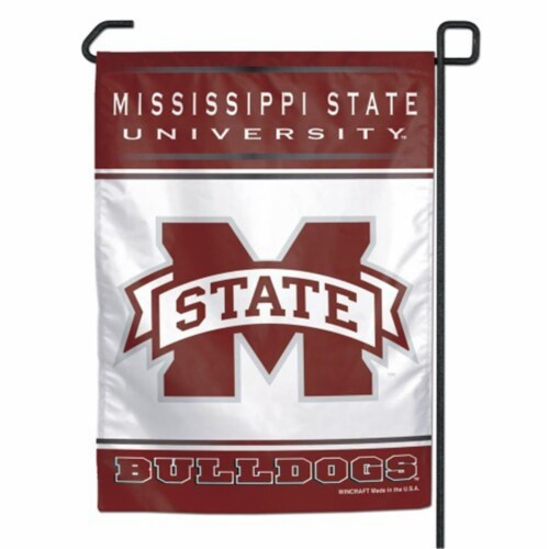 Mississippi State Bulldogs Flag 12x18 Garden Style 2 Sided Perspective: front