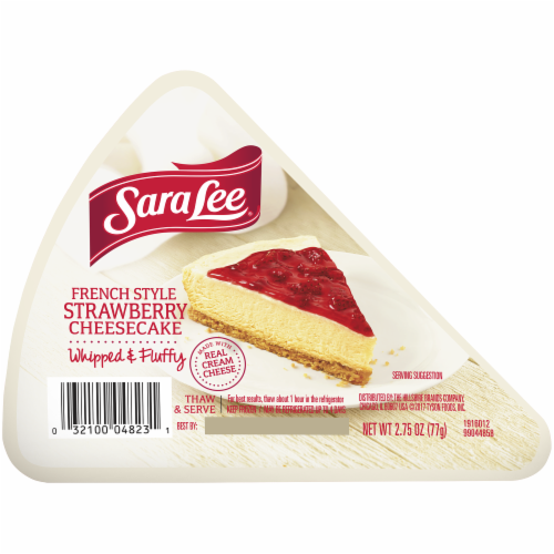 Sara Lee French Style Strawberry Cheesecake Slice Perspective: front