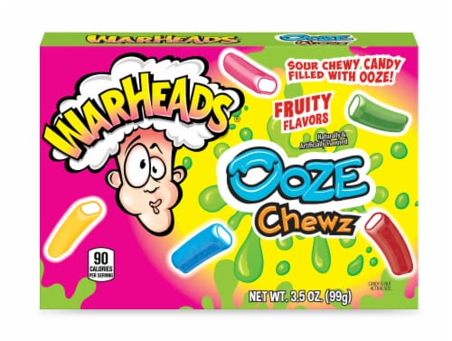 Warheads Ooze Chews Fruity Candy Perspective: front