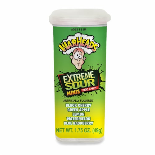 Warheads Extreme Sour Minis Perspective: front