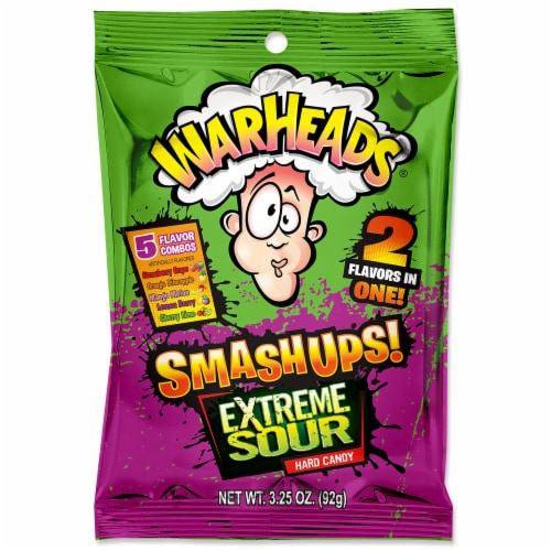Warheads Smashups Extreme Sour Hard Candy Perspective: front