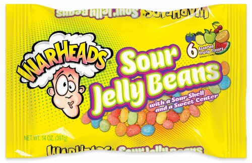 Warheads Sour Jelly Beans Perspective: front