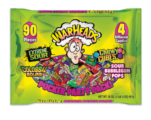 Warheads Mixed Candy Pucker Party Pack Perspective: front
