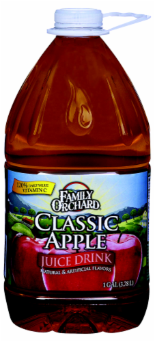 Family Orchard Classic Apple Juice Drink Perspective: front