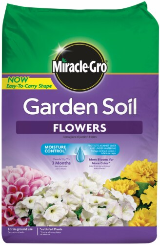 Miracle-Gro Flowers Garden Soil Perspective: front