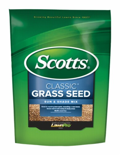Scotts Classic 3 Lb. 1200 Sq. Ft. Coverage Sun & Shade Grass Seed 17183 Perspective: front