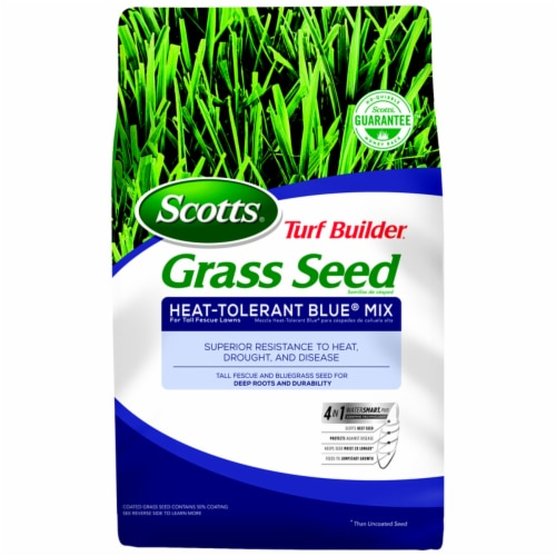 Scotts Turf Builder 3 Lb. 750 Sq. Ft. Coverage Heat Tolerant Blue Grass Seed Perspective: front