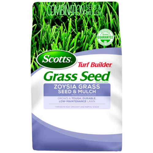 Scotts Turf Builder Zoysia Sun/Partial Shade Grass Seed and Mulch 5 lb. - Case Of: 1; Perspective: front