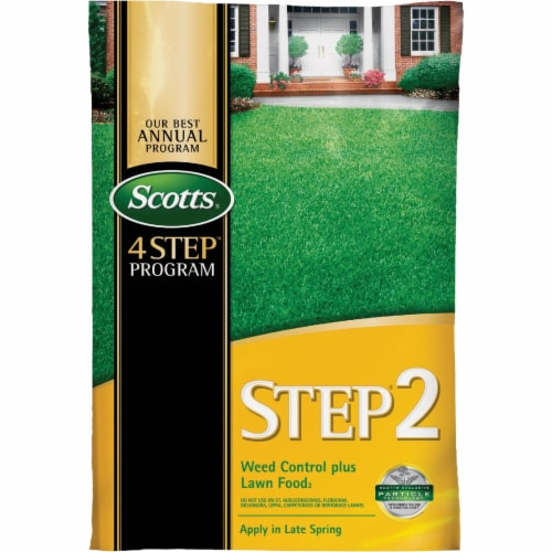 Scott 23616 Step 2 Weed Control & Fertilizer Spring Cool Season Grass Perspective: front