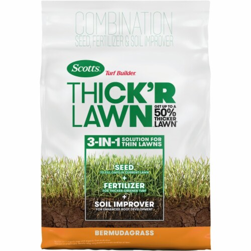 Scotts Lawns 262143 12 lbs Turf Builder Bermuda Seed & Fertilizer Perspective: front