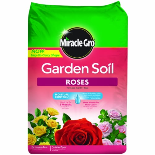 Miracle-Gro Roses Garden Soil 1.5 cu. ft. - Case Of: 1 Perspective: front