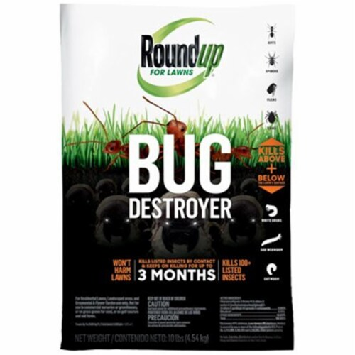 Roundup For Lawns Bug Destroyer 10 Lb. Ready To Use Granules Insect Killer Perspective: front
