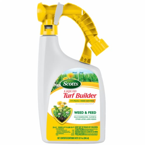 Scotts® Liquid Turf Builder with Plus 2 Weed Control Lawn Fertilizer Perspective: front