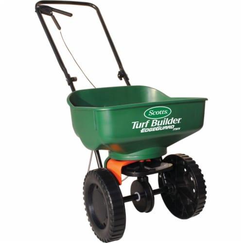 Scotts® Turf Builder EdgeGuard Mini Spreader - Green Perspective: front