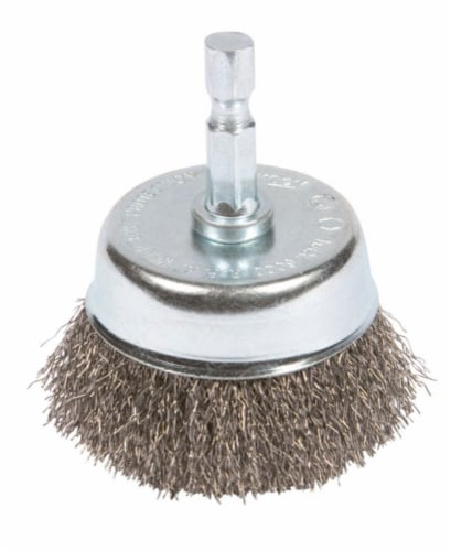 Forney 2 In. 1/4 In. Hex Coarse Drill-Mounted Wire Brush 72729 Perspective: front